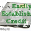 credit score, credit tips, establishing good credit