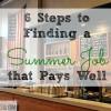 summer job, career advice, career tips