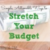 budgeting tips, stretching your budget, ways to budget
